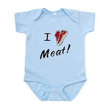 I heart meat, steak, paleo, low carb Onesie