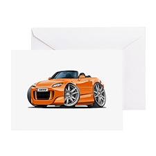 s2000 Orange Car Greeting Card