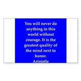 Wisdom of Aristotle Decal