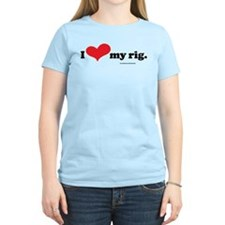 I Love My Rig Women's Light Skydiver T-Shirt