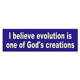 evolution... Bumper Bumper Sticker