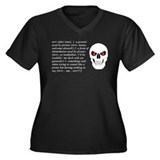 Arrr! Women's Plus Size V-Neck Dark T-Shirt