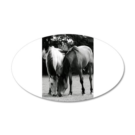 pONY lOVE bLACK AND WHITE 38.5 x 24.5 Oval Wall Pe