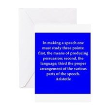 Wisdom of Aristotle Greeting Card