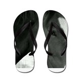 bLACK AND WHITE pHILLY Flip Flops