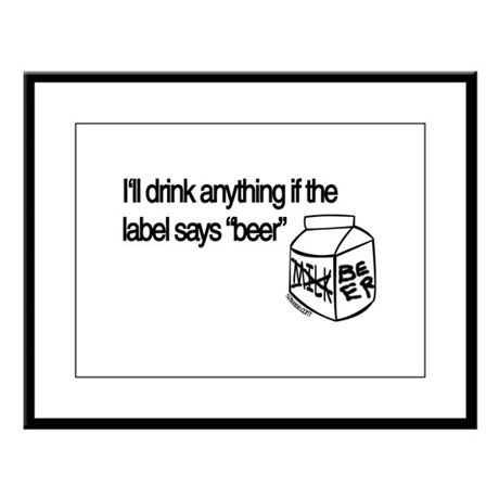 Ultimate Beer Drinking Large Framed Print