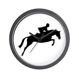 h/j horse &amp; rider Wall Clock