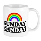 Unique Sunday funday Small Mugs