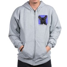Black French Bulldog Lover Zip Hoodie