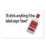 Funny Beer Drinker's Postcards (Package of 8)