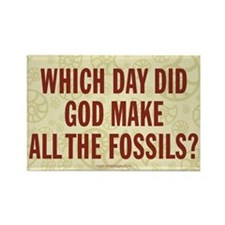 Which Day Did God Make Fossils? Rectangle Magnet