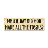 Which Day Did God Make Fossils Rectangle Magnet