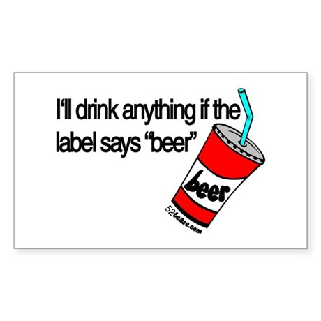 Beer Humor Rectangle Sticker