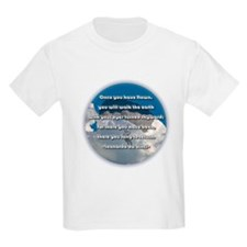 """Leonardo Quote - Skydiving"" Kids T-Shirt"