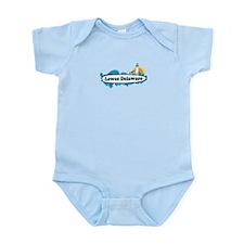 Lewes Beach DE - Surf Design Infant Bodysuit