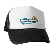Lewes Beach DE - Surf Design Trucker Hat