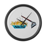 Nacho Hoe Large Wall Clock