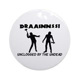 Zombie Drains Ornament (Round)