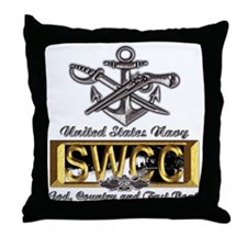 USN Navy SWCC Boat Operator Throw Pillow