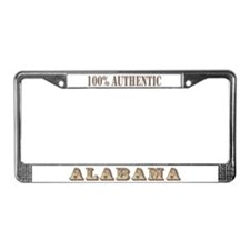 Alabama 100% Authentic License Plate Frame