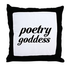 poetry goddess Throw Pillow