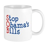 Stop Obama's Bills Mug (front and back)