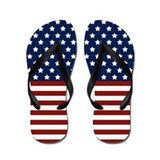 Stars and Stripes Flip Flops