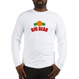 Funny California surfing bear Long Sleeve T-Shirt