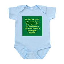 Wisdom of Socrates Infant Bodysuit