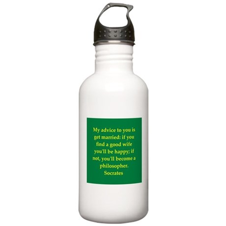 Wisdom of Socrates Stainless Water Bottle 1.0L