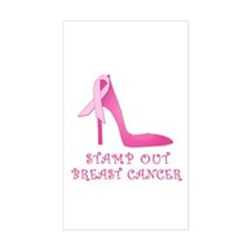 Pink Stiletto Stamp Out Breast Cancer Decal