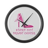 Pink Stiletto Stamp Out Breast Cancer Large Wall C
