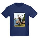 Elk Wapiti Kids Dark T-Shirt