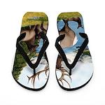Elk Wapiti Flip Flops