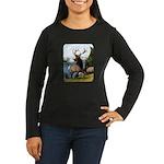 Elk Wapiti Women's Long Sleeve Dark T-Shirt