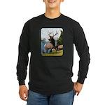 Elk Wapiti Long Sleeve Dark T-Shirt