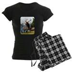 Elk Wapiti Women's Dark Pajamas