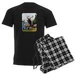 Elk Wapiti Men's Dark Pajamas