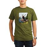 Elk Wapiti Organic Men's T-Shirt (dark)