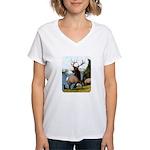 Elk Wapiti Women's V-Neck T-Shirt
