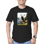 Elk Wapiti Men's Fitted T-Shirt (dark)