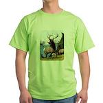Elk Wapiti Green T-Shirt