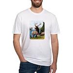 Elk Wapiti Fitted T-Shirt