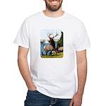 Elk Wapiti White T-Shirt