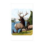 Elk Wapiti Sticker (Rectangle 10 pk)
