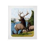 Elk Wapiti Throw Blanket