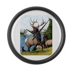 Elk Wapiti Large Wall Clock