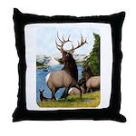 Elk Wapiti Throw Pillow