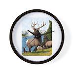 Elk Wapiti Wall Clock
