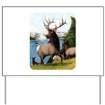 Elk Wapiti Yard Sign